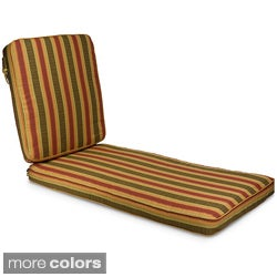 "Outdoor 25"" Wide Chaise Lounge Cushion with Sunbrella Fabric - Stripes"
