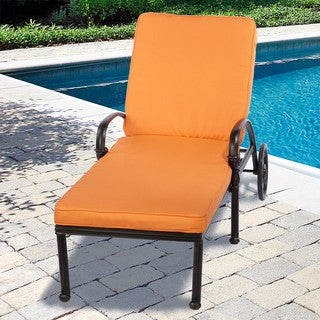 Indoor/ Outdoor 25-Inch Chaise Lounge Cushion with Stain-Resistant Sunbrella Fabric
