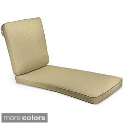 Outdoor 25-inch Wide Textured Neutral Chaise Lounge Cushion with Sunbrella Fabric