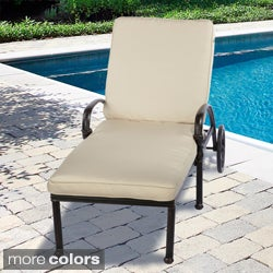 Indoor/ Outdoor 25-inch Chaise Lounge Cushion with Sunbrella Fabric