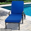 "Indoor/ Outdoor 25"" Wide Chaise Lounge Cushion with Sunbrella Fabric Solid Bright"