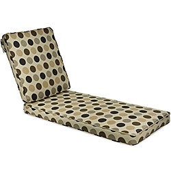 "Outdoor 25"" Wide Chaise Lounge Cushion with Sunbrella Fabric - Designer"