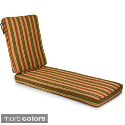 "Outdoor 21"" Wide Chaise Lounge Cushion with Sunbrella Fabric - Stripes"