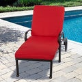 "Outdoor 21"" Wide Chaise Lounge Cushion with Sunbrella Fabric - Solid Traditional"
