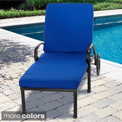 "Outdoor 21"" Wide Chaise Lounge Cushion with Sunbrella Fabric - Solid Bright"