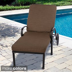 "Outdoor 21"" Wide Chaise Lounge Cushion with Sunbrella Fabric - Textured Neutral"