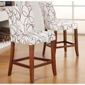 Tribecca Home Decor Swirl Print Wood Barstools (Set of 2)