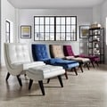 INSPIRE Q Albury Two-Tone Lounging Chair with Ottoman