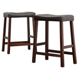 Nova Cherry Saddle Cushioned Seat 24-inch Barstool