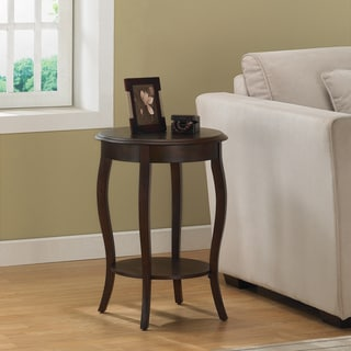 Walnut 18-inch Round Accent Table