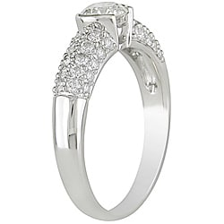 Miadora 14k White Gold 1ct TDW Diamond Ring (H-I, I1-I2)
