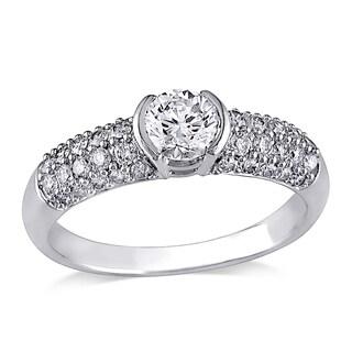 Miadora 14k White Gold 1ct TDW Diamond Ring (H-I, I1-I2)
