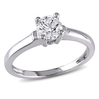 Miadora 14k White Gold 3/4ct TDW Diamond Solitaire Ring (G-H, I1-I2)