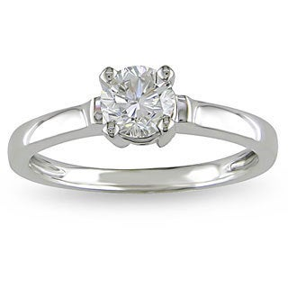 Miadora 14k White Gold 3/4ct TDW Diamond Solitaire Ring (H-I, I2-I3)