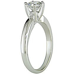 Miadora 14k White Gold 1ct TDW 6-Prong Diamond Solitaire Engagement Ring (H-I, I1-I2)