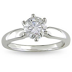 Miadora 14k White Gold 1ct TDW 6-Prong Diamond Solitaire Engagement Ring (H-I, I1-I2)