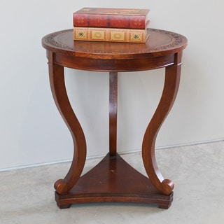 International Caravan Hand-carved 3-leg Hardwood Serpentine Table