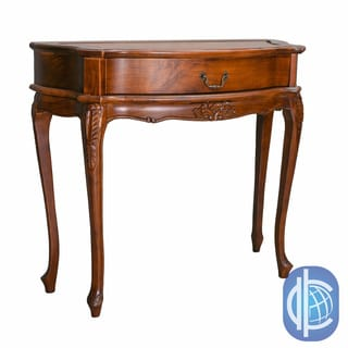 International Caravan Windsor Hand-Carved One Drawer Wood Hall Table