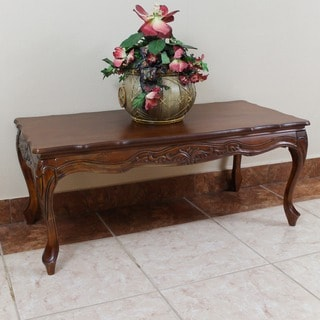 International Caravan Hand-carved Wood Coffee Table