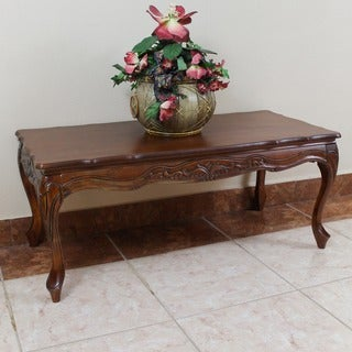 International Caravan Windsor Hand-carved Wood Coffee Table