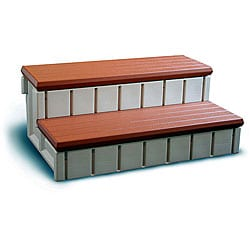 Redwood Storage Compartment Spa Step