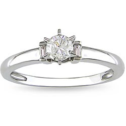 14k White Gold 1/3ct TDW Diamond Solitaire Engagement Ring (G-H, I1-I2)
