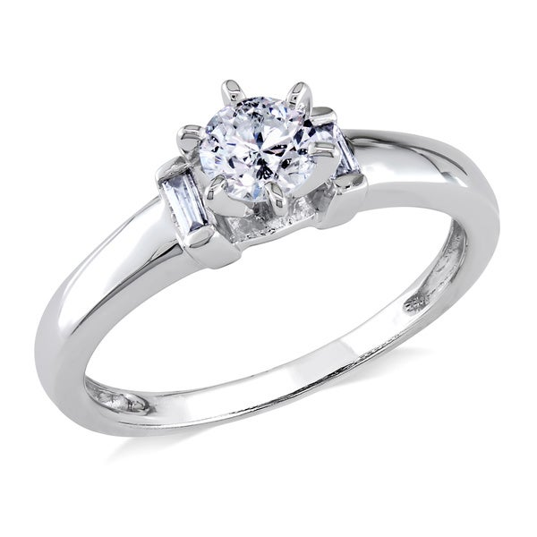 Miadora Signature Collection 14k White Gold 1/2ct TDW Diamond Solitaire Engagement Ring (G-H, I1-I2)