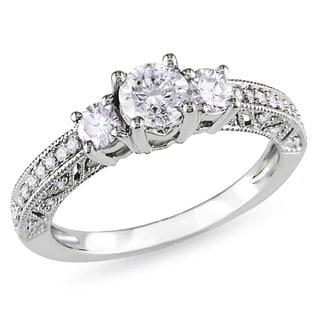 Miadora 14k White Gold 1ct TDW Diamond Engagement Ring (H-I, I2-I3)