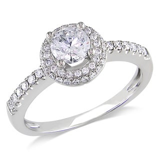 14k White Gold 3/4ct TDW Diamond Engagement Ring (G-H, I1-I2)