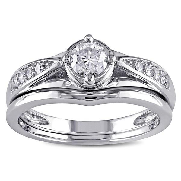 Miadora 14k Gold 1/2ct TDW Diamond Bridal Ring Set