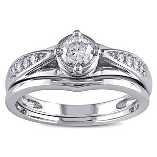 Miadora 14k Gold 1/2ct TDW Diamond Bridal Ring Set
