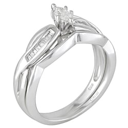 Miadora 14k Gold 1/4ct TDW Diamond Bridal Set (H-I, I2-I3)