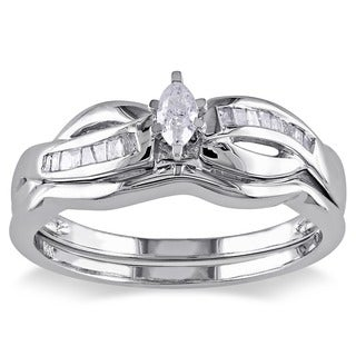 Miadora 14k Gold 1/4ct TDW Diamond Bridal Set (H-I, I2-I3)