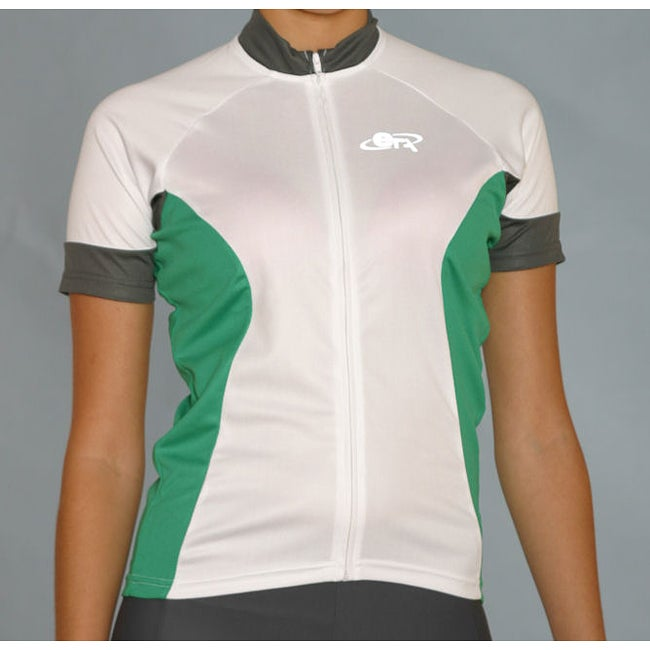 ETA Women's Short-sleeve Green/ White Cycling Jersey