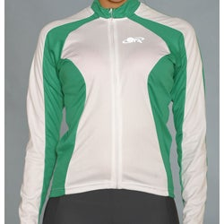 ETA Women's Long-sleeve Green/ White Cycling Jersey