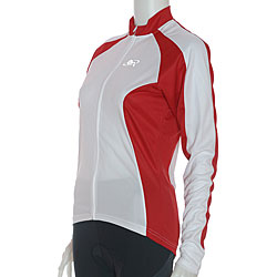 ETA Women's Long-sleeve Red/ White Cycling Jersey