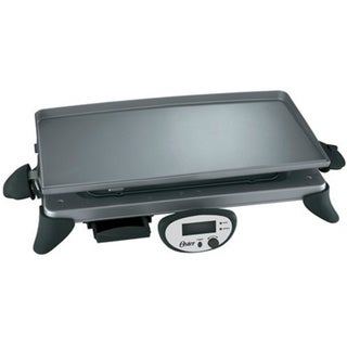 Oster CKSTGRRD25 Gray Digital Griddle with Removable Plate