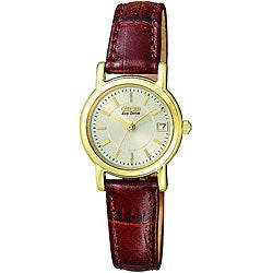 Citizen Women's Eco-drive Leather Strap Watch