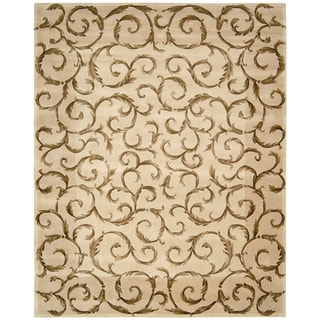 "Nourison Hand-Tufted Versailles Palace Ivory Wool Rug (5'3"" x 8'3"")"