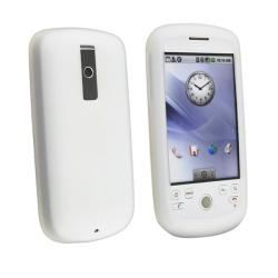 Clear White Silicone Skin Case for HTC Magic