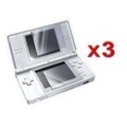 Insten Nintendo DS Lite 2-LCD Reusable Screen Protector (Pack of 3)
