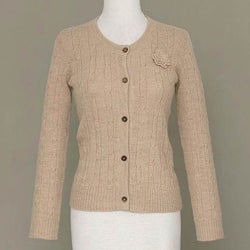 Alpaca Wool 'Beige Nature' Sweater (Peru)