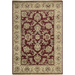 Nourison Hand-knotted Tajik Red/ Beige Wool Rug (5'6 x 8')