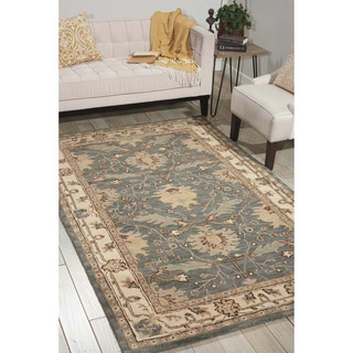 "Nourison Hand-Tufted Caspian Blue Wool Accent Rug (2'6"" x 4')"
