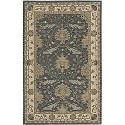 Nourison Hand-tufted Caspian Blue Wool Rug (8' x 10'6)