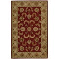 "Nourison Hand-Tufted Caspian Red Wool Area Rug (3'6"" x 5'6"")"