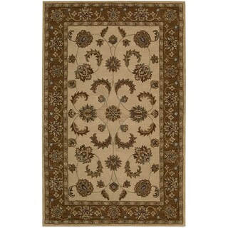 Nourison Caspian Ivory Hand-tufted Oriental-style Wool Rug (5' x 8')