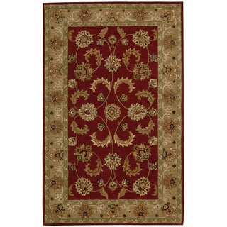 Hand-tufted Caspian Red Wool Rug (5' x 8')