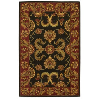 Nourison Hand-tufted Caspian Black Wool Rug (5' x 8')