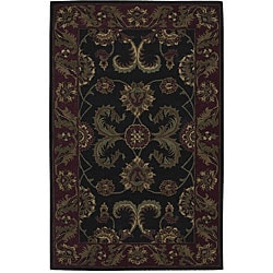 Nourison Hand-tufted Caspian Black Wool Rug (3'6 x 5'6)